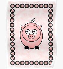 Little Cute Piggy Poster