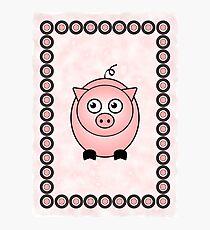 Little Cute Piggy Photographic Print