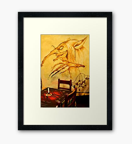 How's this table? Framed Print