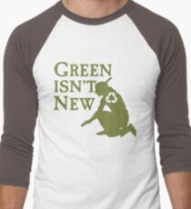 Green Isn't New (Green) Men's Baseball ¾ T-Shirt