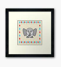 Little Cute Elephant Framed Print