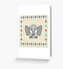 Little Cute Elephant Greeting Card