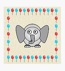 Little Cute Elephant Photographic Print