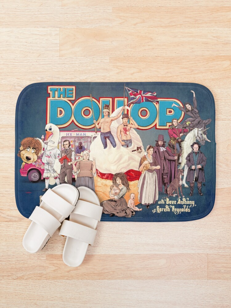 Alternate view of DOLLOP: England & the UK (poster) Bath Mat