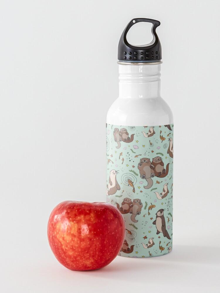 Alternate view of Otters in Blue Water Bottle