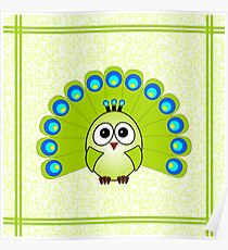 Little Cute Peacock Poster
