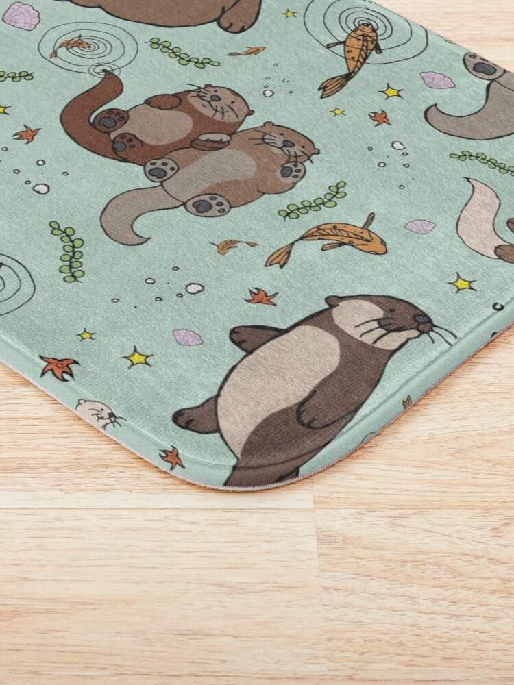 Alternate view of Sea Otters Bath Mat