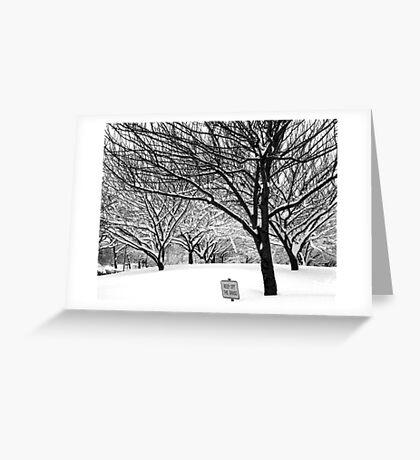 snowy winter day, bronx, new york city Greeting Card