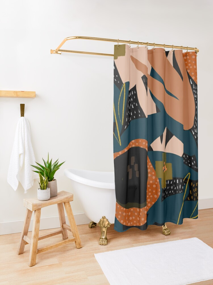 Alternate view of Evening meadow Shower Curtain