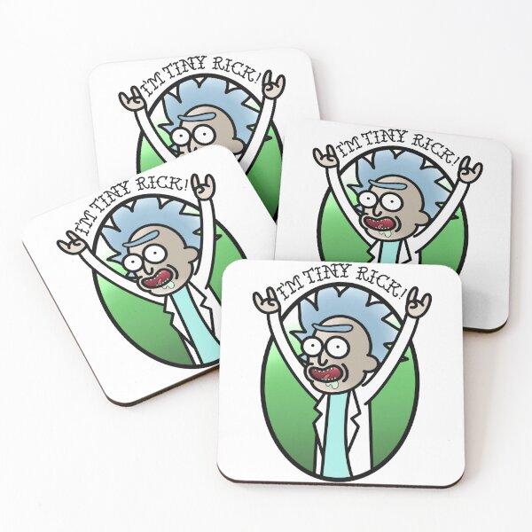 Tiny Rick - Rick and Morty  Coasters (Set of 4)