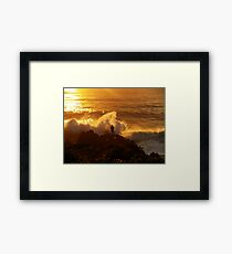 Rock Fishing Near Moruya - NSW - Australia. xx Framed Print
