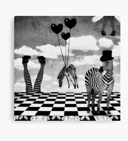 It's Not All Black & White... Canvas Print