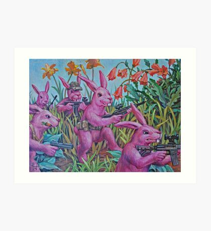 Bunny Recon Art Print