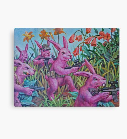 Bunny Recon Canvas Print