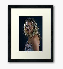 Golden Smile Framed Print