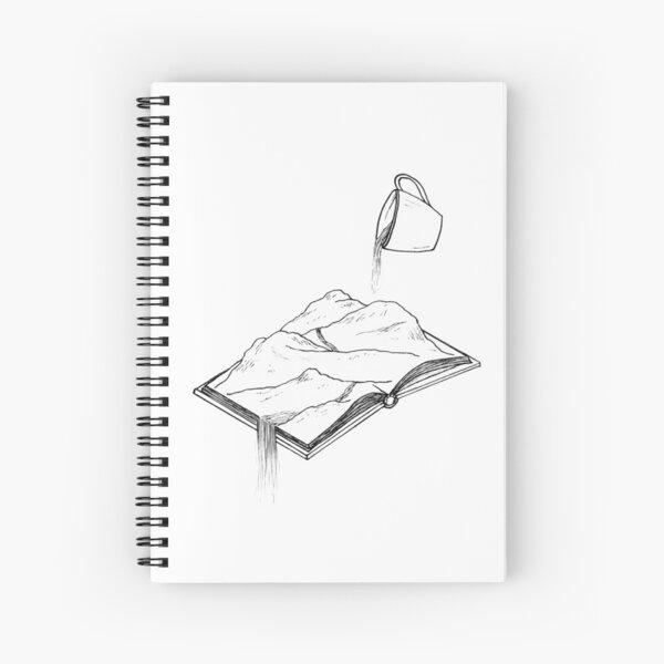 A Book, A Cuppa, An Adventure Spiral Notebook