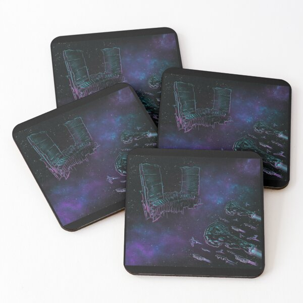 War in eve online Coasters (Set of 4)