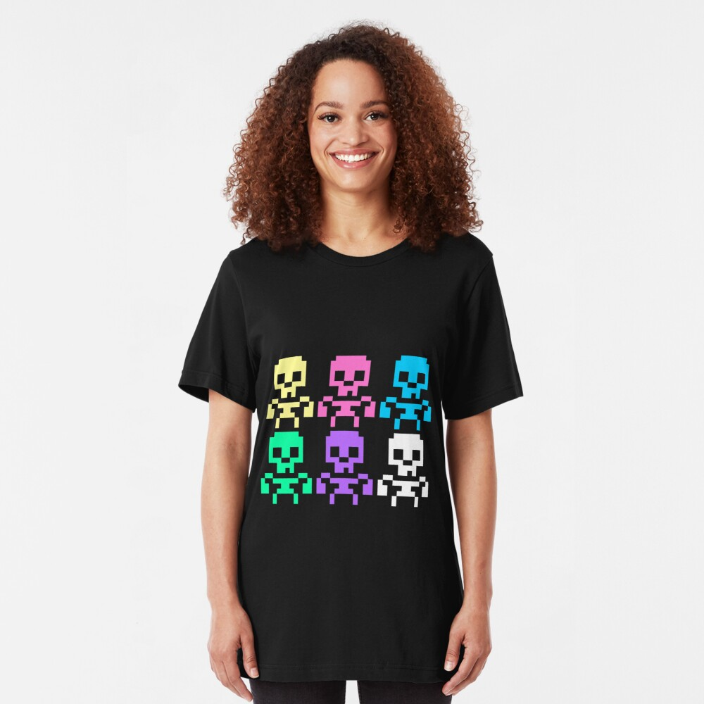 Rainbow skeletons Slim Fit T-Shirt