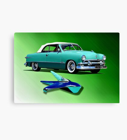 1951 Ford Twin Spinner Coupe Canvas Print