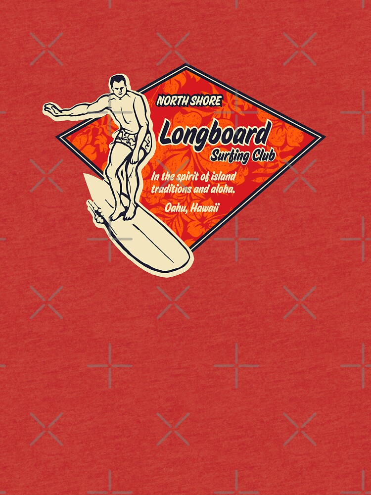 Club Surfing Diamond Hawaiian Print - Black & Red by DriveIndustries