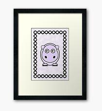 Little Cute Hippopotamus Framed Print