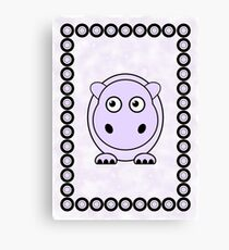 Little Cute Hippopotamus Canvas Print