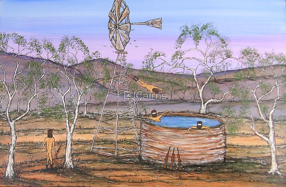 """""""Ned Kelly on Guard Duty"""" EJCairns Original SOLD by EJCairns"""