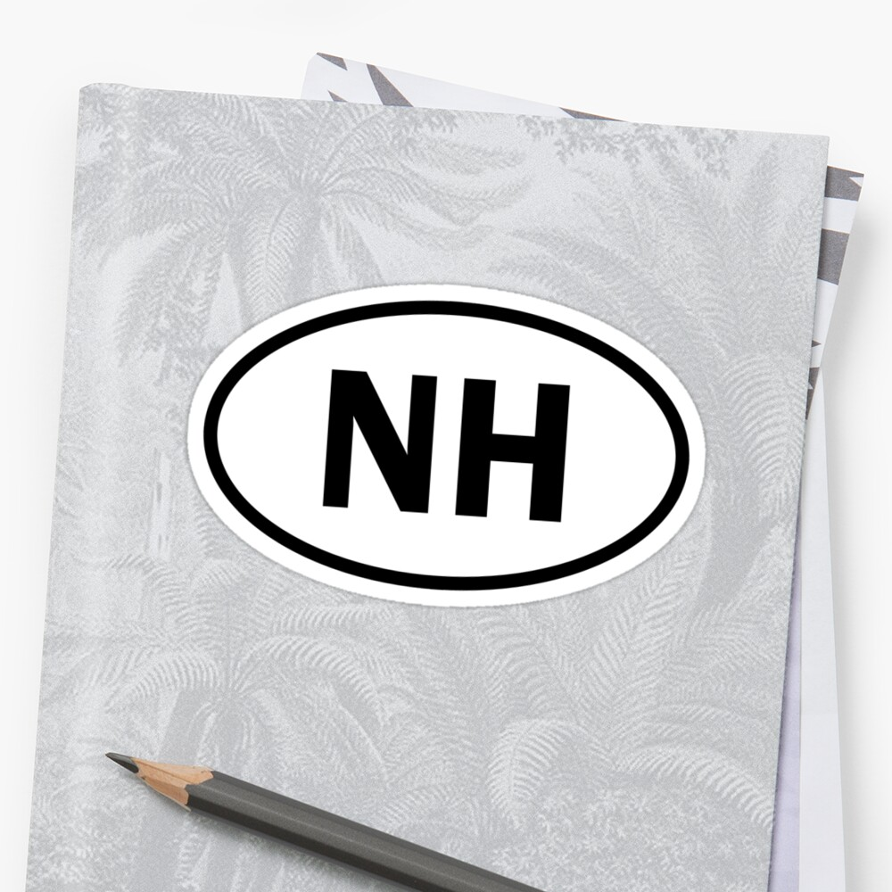 New Hampshire - NH - oval sticker and more by welikestuff