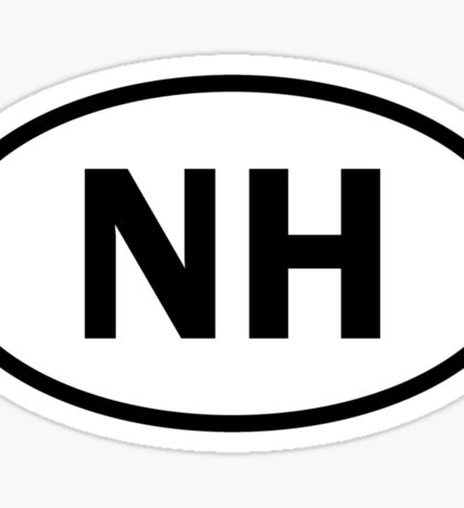 New Hampshire - NH - oval sticker and more Sticker