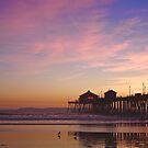 Huntington Beach Pier in Sunset by Svetlana Day