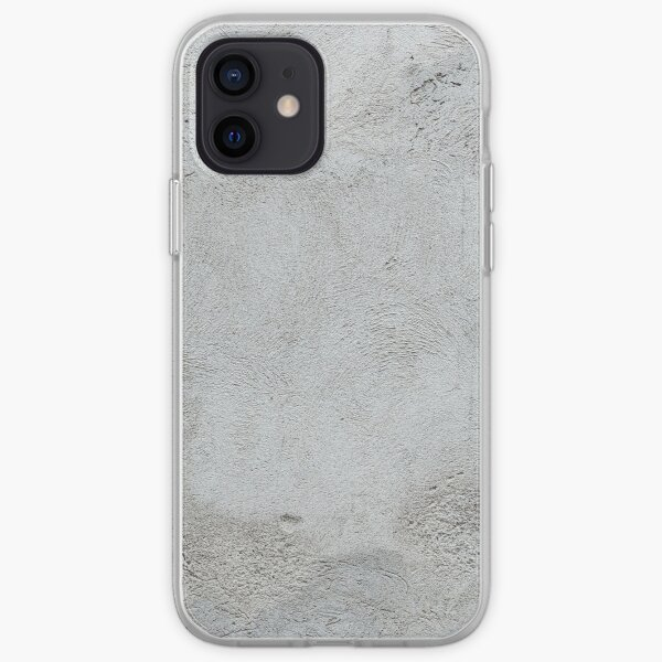 Gray concrete wall texture iPhone Soft Case