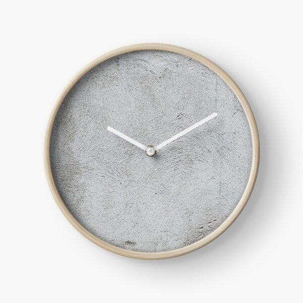 Gray concrete wall texture Clock