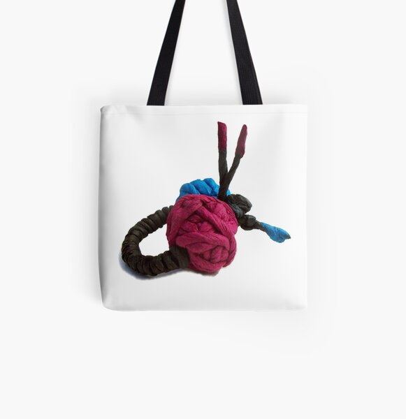 JUMPING COLORS - blue and purple on a ring -  All Over Print Tote Bag