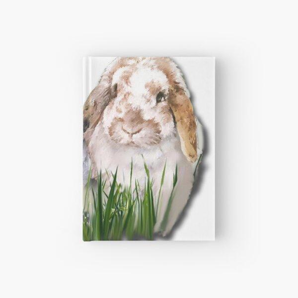 Beautiful Belle and Lockers bunnies Hardcover Journal