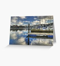 Bowness-on-Windermere..Marina Views Greeting Card