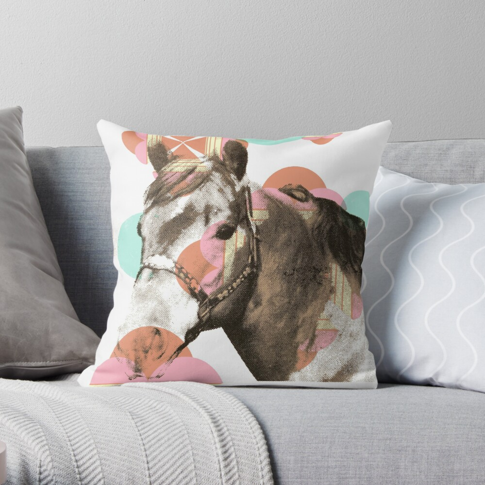 Calm Horse Throw Pillow