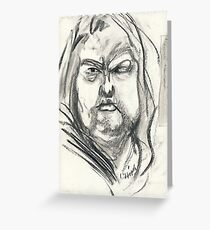 Unhappy on Steroids #3 Greeting Card