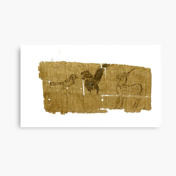 Unicorn Papyrus (P.Oxy 5403) Canvas Print