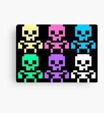 Rainbow skeletons Canvas Print