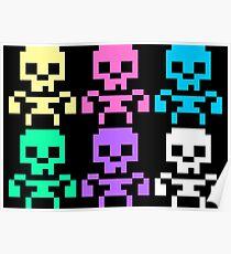 Rainbow skeletons Poster