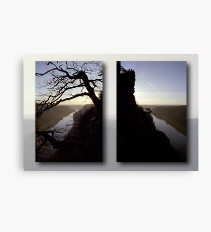 High above the Elbe river - diptych (Saxony Switzerland, Germany) Canvas Print