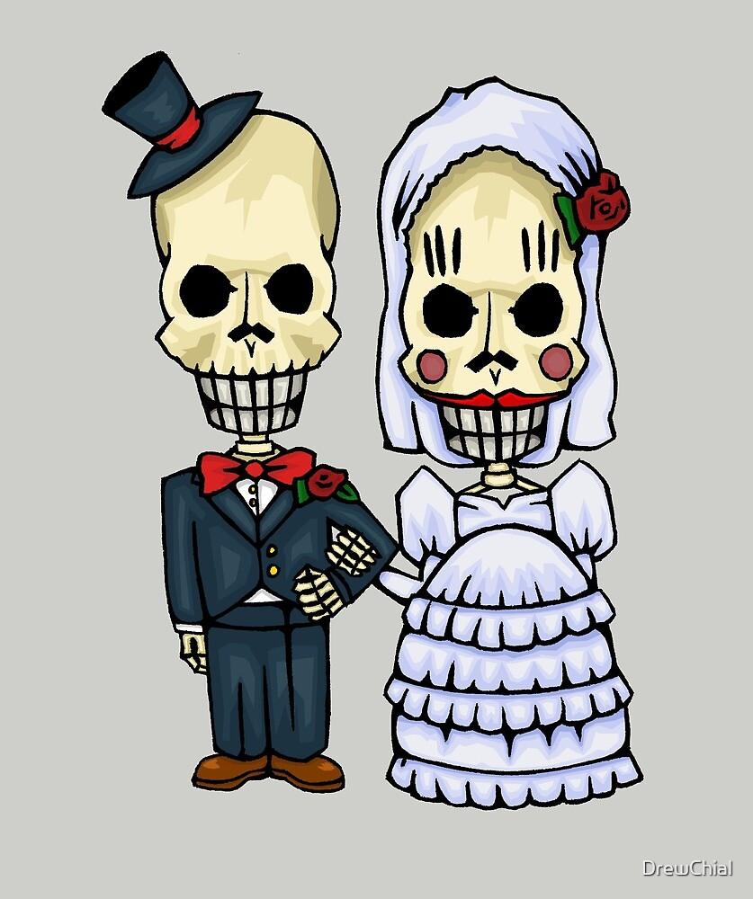 The Skeleton Wedding Couple by DrewChial