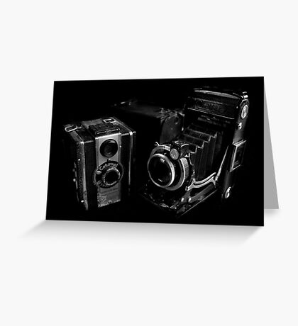 Old Cameras Greeting Card