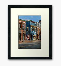 City - Alexandria, VA - King Street Blues Framed Print
