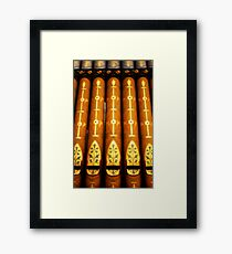 luminous pipes Framed Print