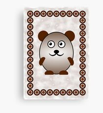 Little Cute Bear Canvas Print