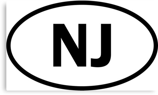 New Jersey - NJ - oval sticker and more by welikestuff