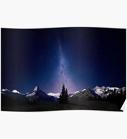 Alpine Night Sky Poster