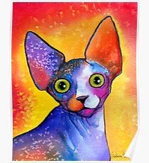Sphynx Cat painting #3 Svetlana Novikova Poster