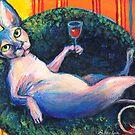 Sphynx Cat 'chilling' painting Svetlana Novikova by Svetlana  Novikova